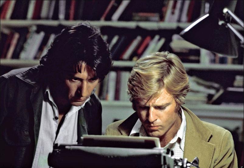 Dustin Hoffman Robert Redford Tutti gli Uomini del Presidente stasera in Tv film tv Watergate