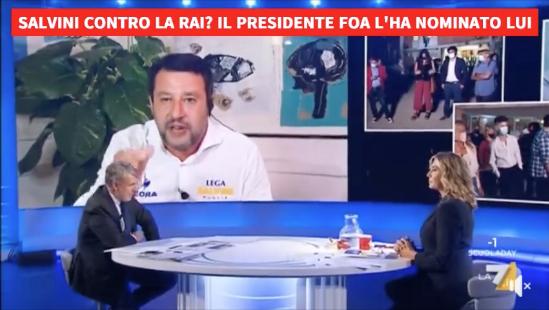Matteo Salvini La7 Myrta Merlino Gerardo Greco Michele Anzaldi
