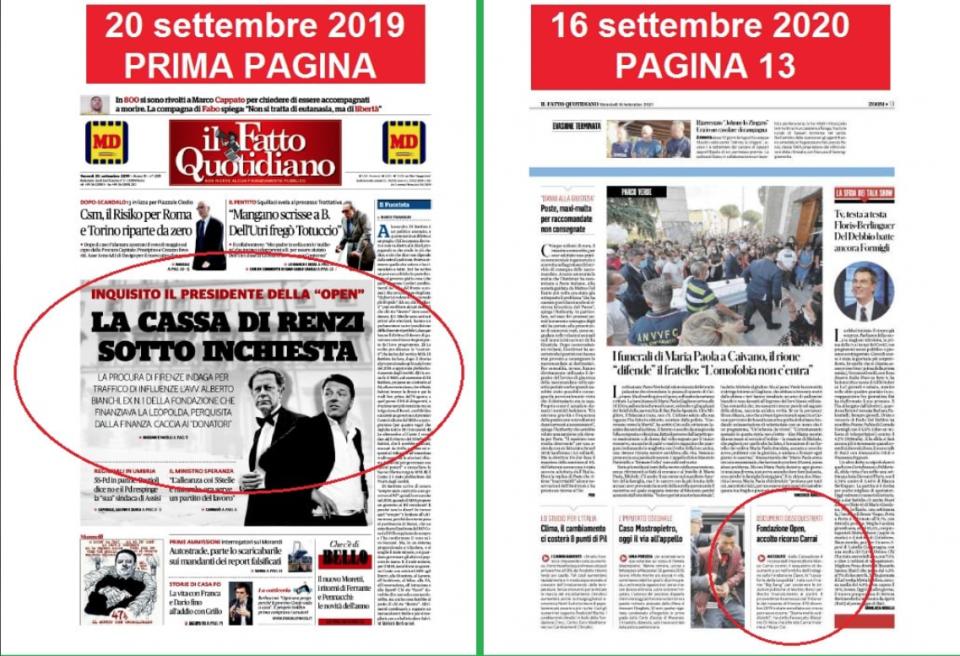 Open Leopolda Matteo Renzi Michele Anzaldi Cassazione