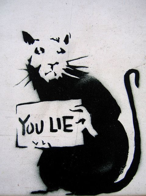 Banksy - You Lie