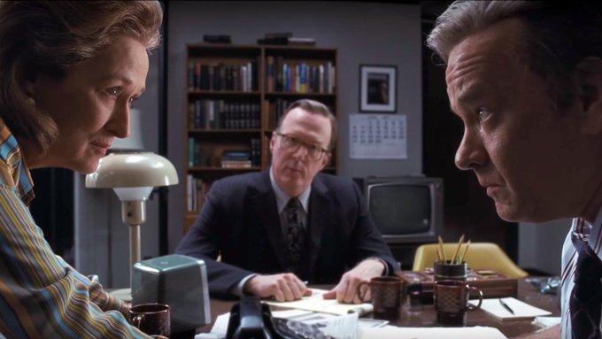 Meryl Streep Tom Hanks Steven Spielberg The Post film Tv martedì 24 novembre 2020