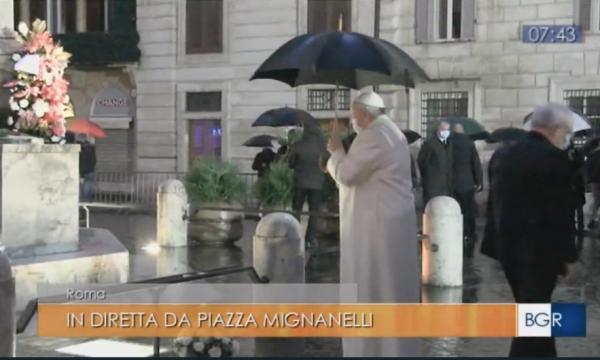 Sorpresa Papa a Piazza di Spagna. Tgr Lazio dà notizia per primo