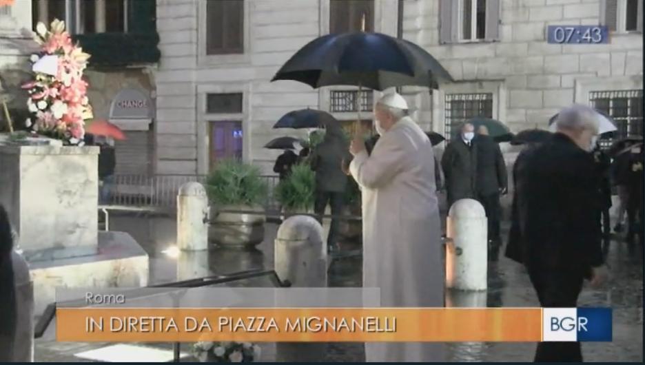 Tgr Lazio sorpresa papa piazza di spagna