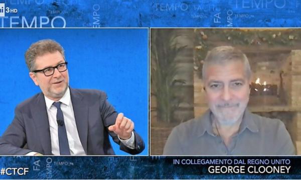 """Rai. Lega contro Fazio: """"165mila euro per l'ospitata di Clooney"""""""