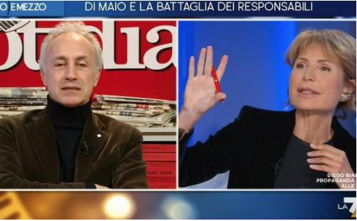 Lilli Gruber La7 Marco Travaglio Matteo Renzi Italia Viva