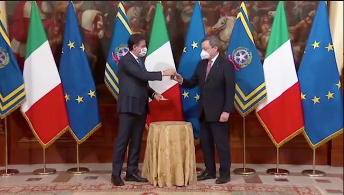 cerimonia campanella Draghi Conte Anzaldi Speciale Tg1