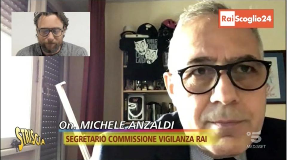 Rai Striscia Pinuccio Anzaldi