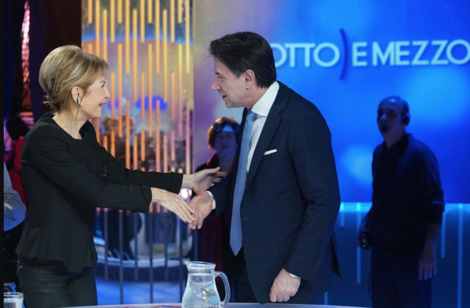 Conte Gruber Otto e mezzo M5s Beppe Grillo