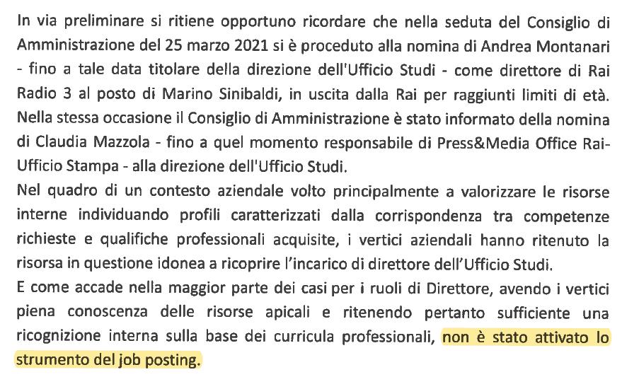 Claudia Mazzola interrogazione Michele Anzaldi