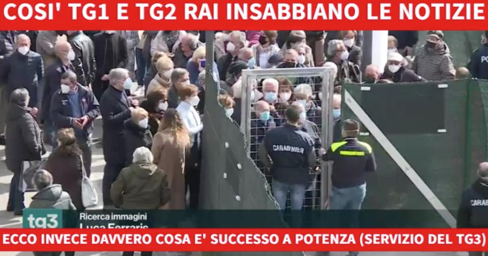 Vaccini Caos Basilicata Tg1 Tg2 Tg3 Michele Anzaldi