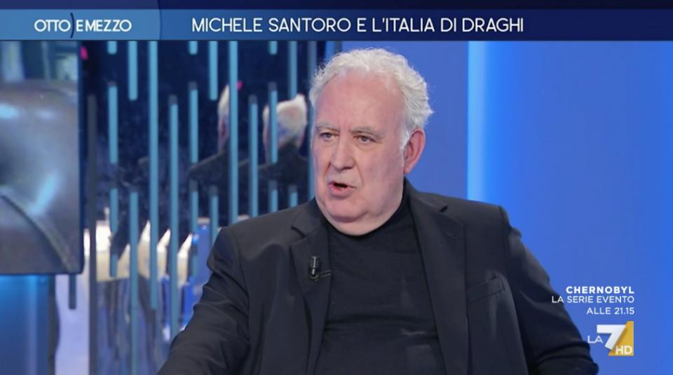 Michele Santoro 8 e 1/2 Lilli Gruber La7