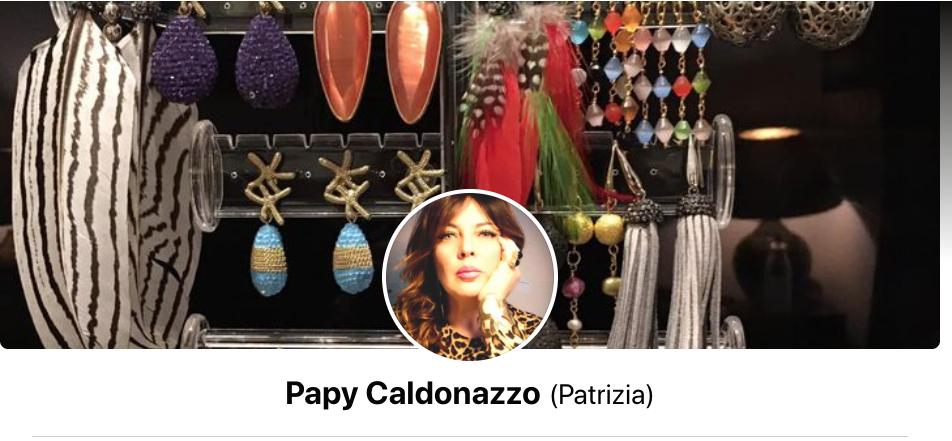 Patrizia Caldonazzo Le creazioni di Papy Gioielli Gigi Marzullo Striscia la Notizia Pinuccio
