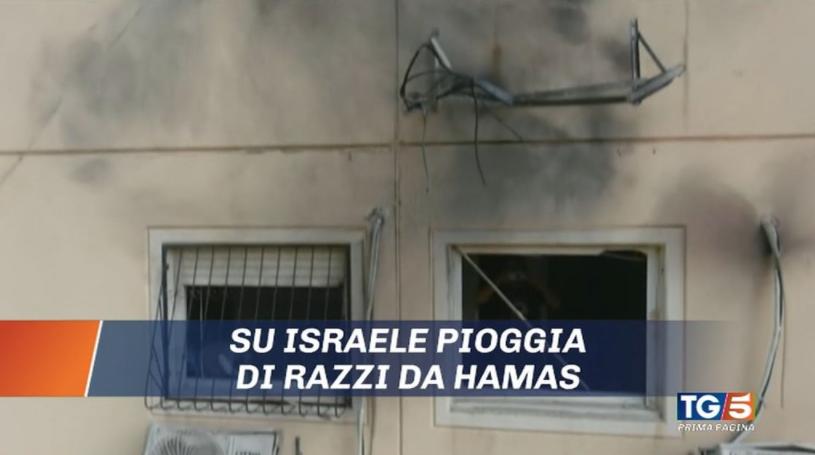 razzi di Hamas contro Israele Anzaldi Lega Tg1