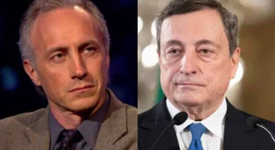 Travaglio Draghi Leu figlio di papà non capisce un cazzo