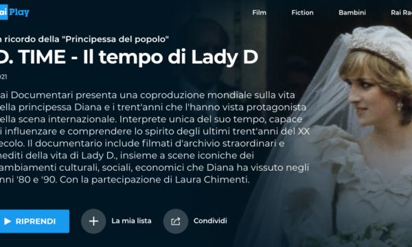 Rai Documentari s'incensa per l'omaggio a Lady D ma non dice che è tratto da una miniserie UK
