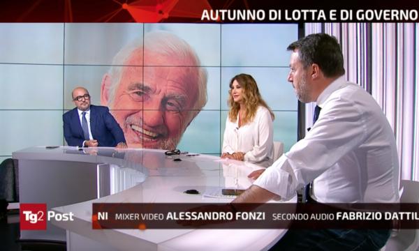 Ascolti Tv, Tg2 Post non balla con Salvini: fanalino di coda dopo Stasera Italia e In Onda