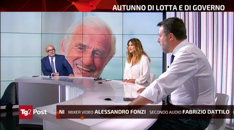Matteo Salvini Ascolti Tv Tg2 Post Manuela Moreno Gennaro Sangiuliano