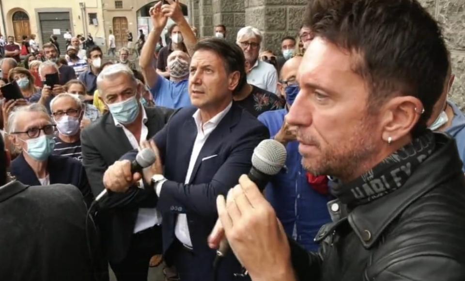 Conte Scanzi Montevarchi M5s Luca Canonici minacce a Renzi