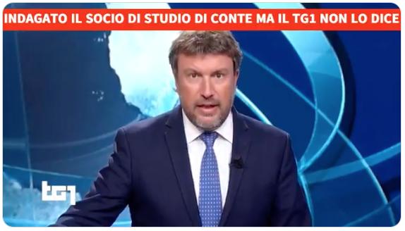 """Socio di Conte indagato. Anzaldi: """"Ma il Tg1 grillino non cita l'ex Premier"""""""